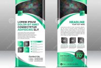 Roll Up Banner Stand Template Stand Designbanner Template Green inside Banner Stand Design Templates