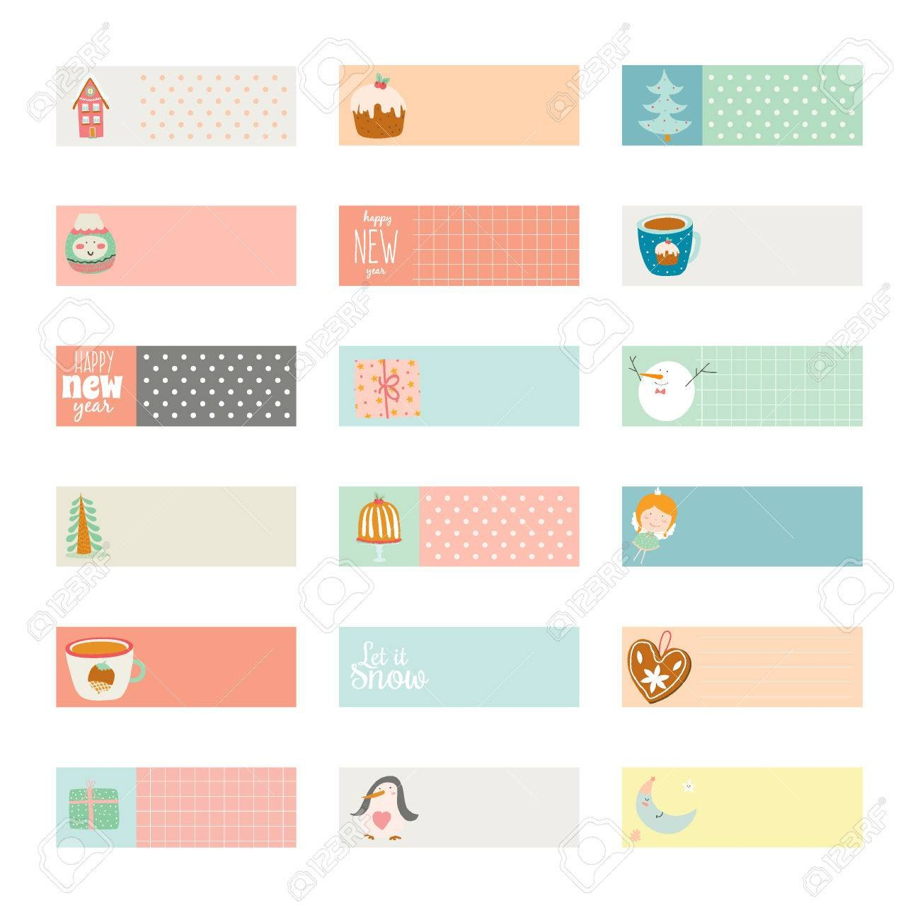 Romantic And Love Cards Notes Stickers Labels Tags With Spring Pertaining To Notebook Label Template