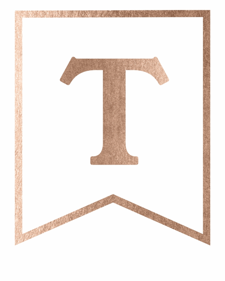 Rose Gold Banner Template Free Printable  Rose Gold Banner Letters Intended For Printable Banners Templates Free