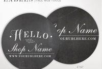 Round Label Template  Inch Circular Chalkboard Label  Etsy for 2 Inch Round Label Template
