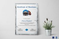 Rugby Certificate Of Excellence Design Template In Psd Word throughout Rugby League Certificate Templates