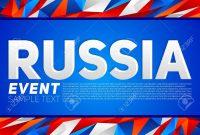 Russia Event Banner Template Vector Modern Design Russian Flag throughout Event Banner Template