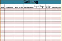 Sales Call Report Template Unique Log Excel Image Collections pertaining to Sales Call Report Template