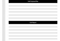 Sales Calls Report Template Ideas Call Wrap Up Cool Reports regarding Sales Call Report Template