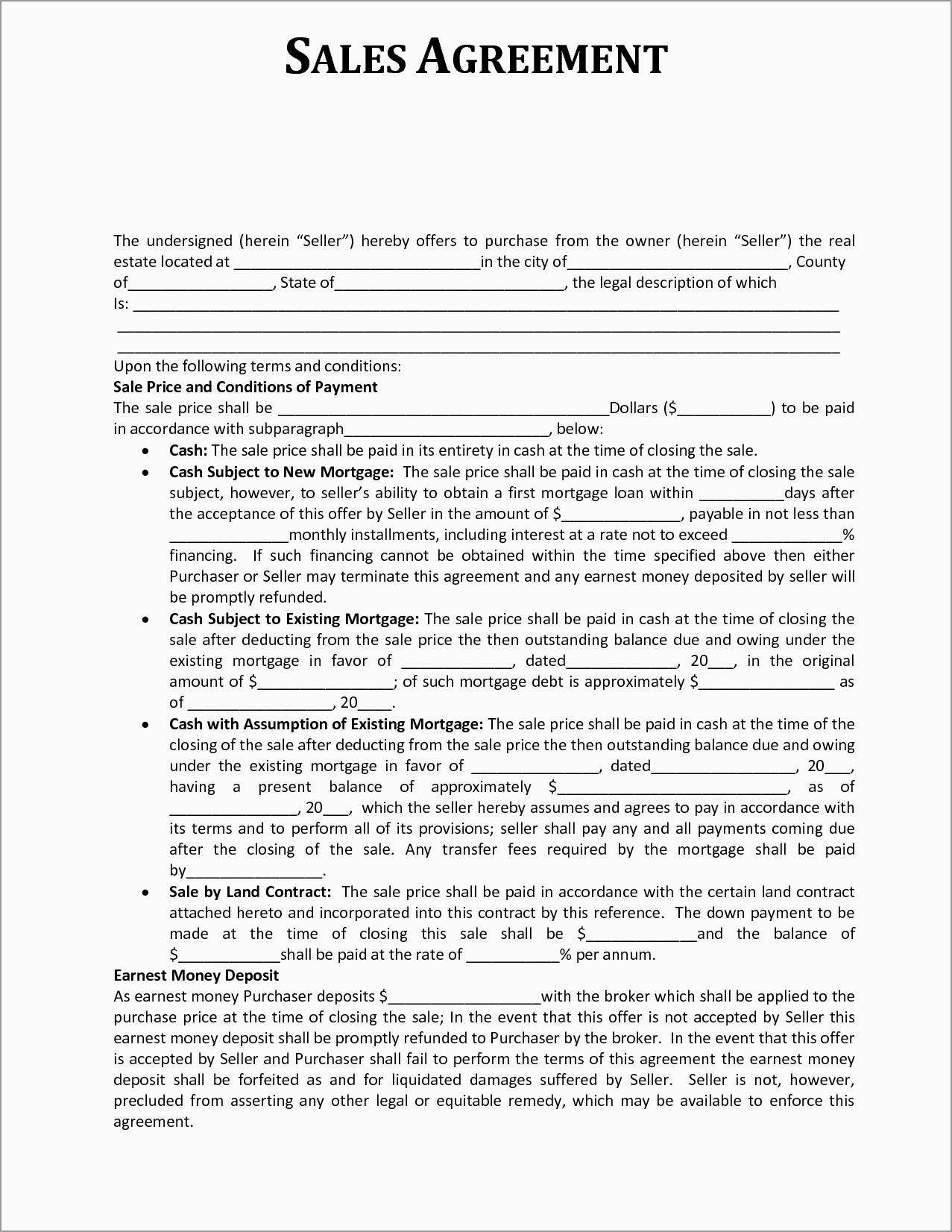 Sales Commission Contract Template Free Unique  Sales Agreement For Free Commission Sales Agreement Template