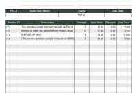 Sales Invoice Template For United States within Usa Invoice Template