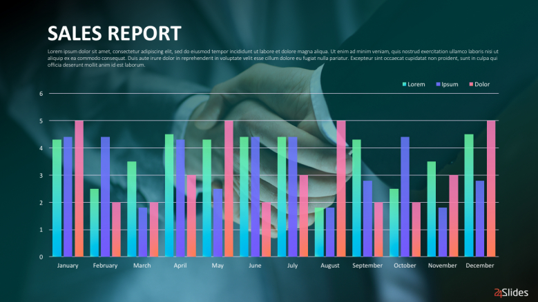 Sales Reports Presentation Template  Free Powerpoint Templates Intended For Sales Report Template Powerpoint