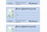 Salon Gift Certificate Template Free Fill Car Tuning Spa Printable in Massage Gift Certificate Template Free Printable