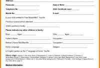 Sample Application For School Certificate New  School Admission within School Leaving Certificate Template