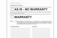 Sample Bill Of Sale Automobile Awesome –· Copy Auto Repair regarding Car Warranty Agreement Template
