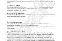 Sample Bookkeeping Contract Form Template  Bookkeeping Business in Client Service Agreement Template