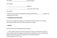 Sample Commercial Lease Termination Letter Landlord Tenant Free for Cancellation Of Lease Agreement Template