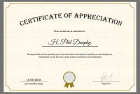 Sample Company Appreciation Certificate Design Template In Psd Word within Thanks Certificate Template