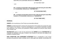 Sample Distribution Agreement Template regarding Heads Of Terms Agreement Template