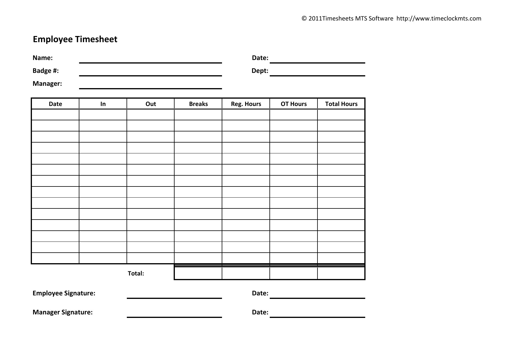 Sample Free Weekly Timesheet Template Ideas Employee Time Sheet Intended For Weekly Time Card Template Free