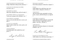 Sample French Menu  Musthavemenus  Menus Galore  Menu Layout for French Cafe Menu Template