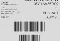 Sample Gs Pallet Label Layout With A Serial Shipping Container in Pallet Label Template