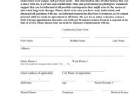 Sample Informed Consent For Psychotherapy regarding Therapy Confidentiality Agreement Template