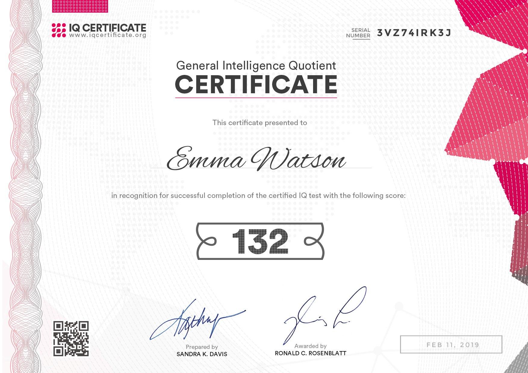 Sample Iq Certificate  Get Your Iq Certificate With Iq Certificate Template