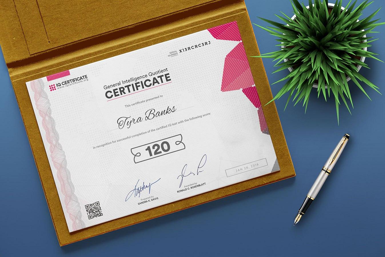 Sample Iq Certificate  Get Your Iq Certificate With Regard To Iq Certificate Template