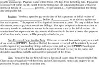 Sample Lawyerclient Engagement Letter  Pdf pertaining to Contingency Fee Agreement Template