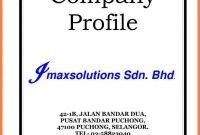 Sample Of Company Profile For Small Business  Company Letterhead regarding Simple Business Profile Template