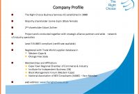 Sample Of Simple Company Profile  Company Letterhead in Company Profile Template For Small Business