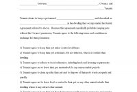 Sample Printable Pet Agreementm Addendum To The Rental Agreement intended for Addendum To Tenancy Agreement Template