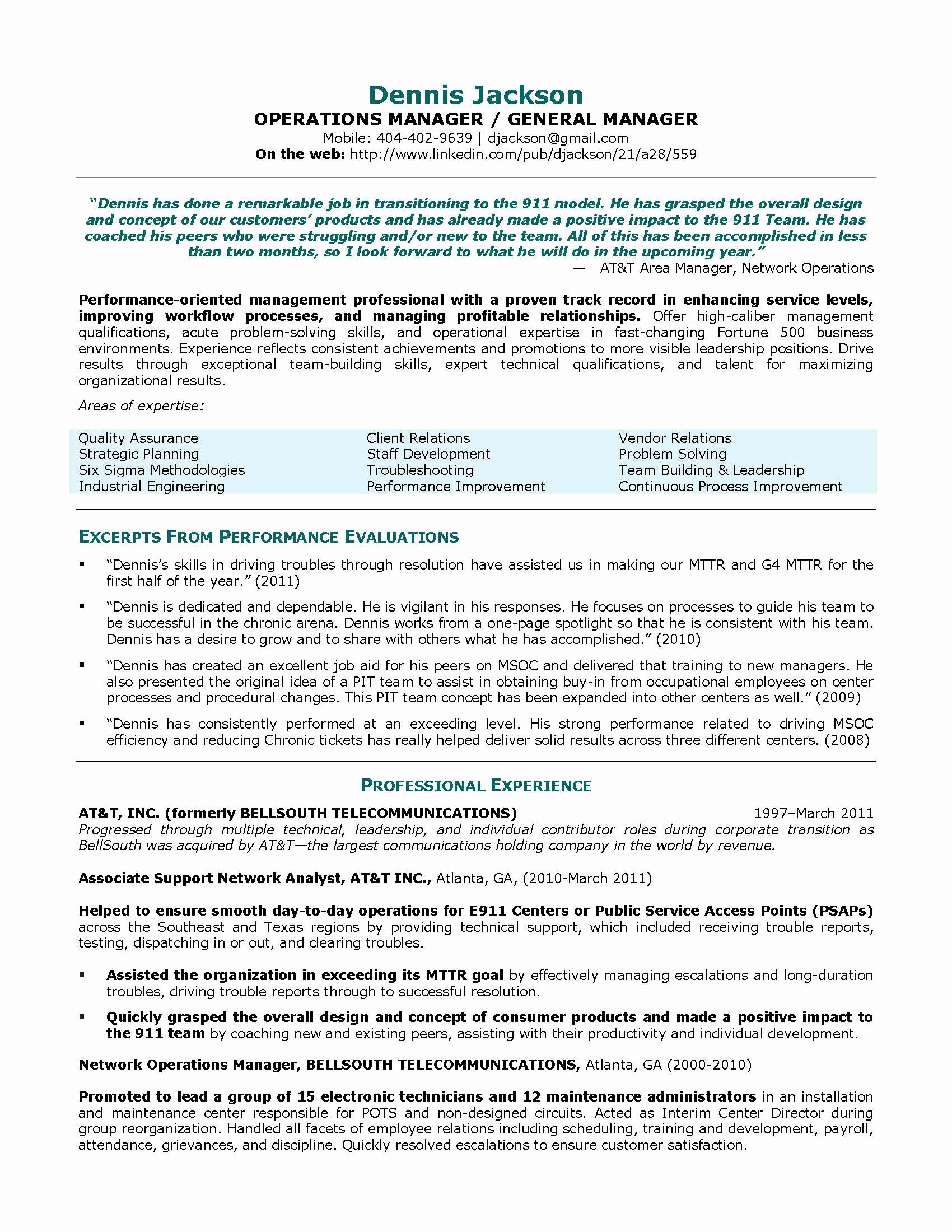 Sample Resume For Operations Manager In Bpo Valid Construction For Operations Manager Report Template