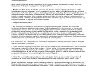 Sample Sales Employee Agreement Short Version inside Individual Performance Agreement Template
