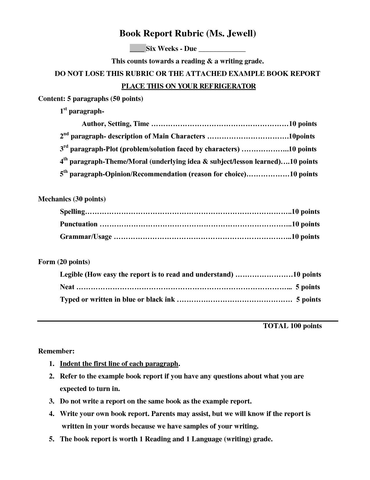 Sample Th Grade Book Report Format  Google Search  Reading  Book Inside Book Report Template 4Th Grade