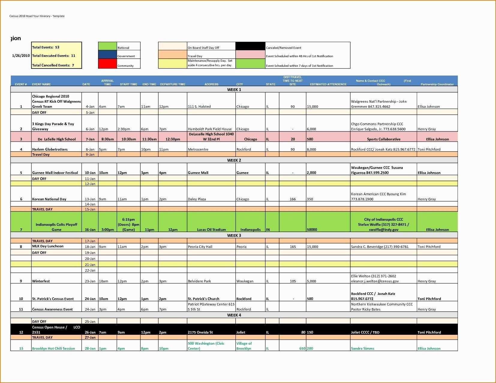 Sample Travel Itinerary Template Excel  Myvacationplan Regarding Sample Business Travel Itinerary Template