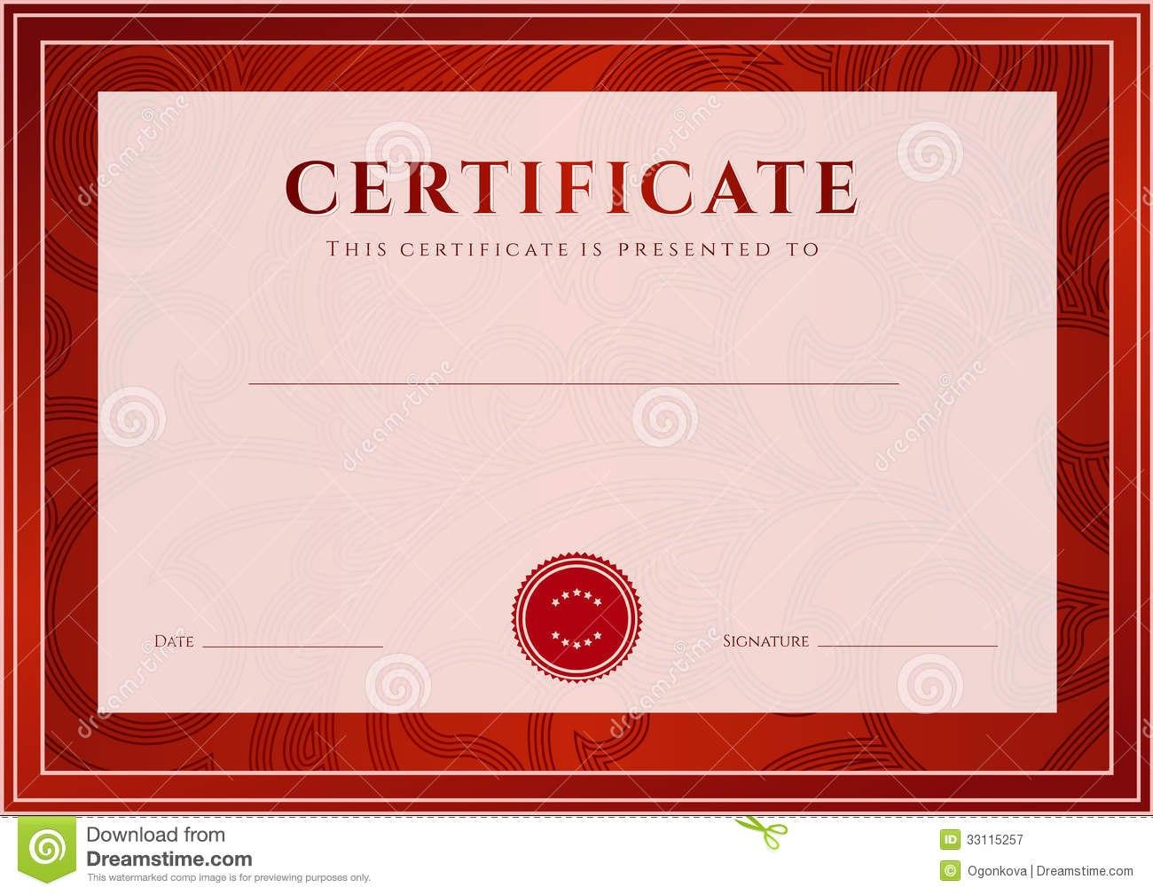 Samplediplomaofgraduationcertificatetemplatesnew Within Free Printable Graduation Certificate Templates