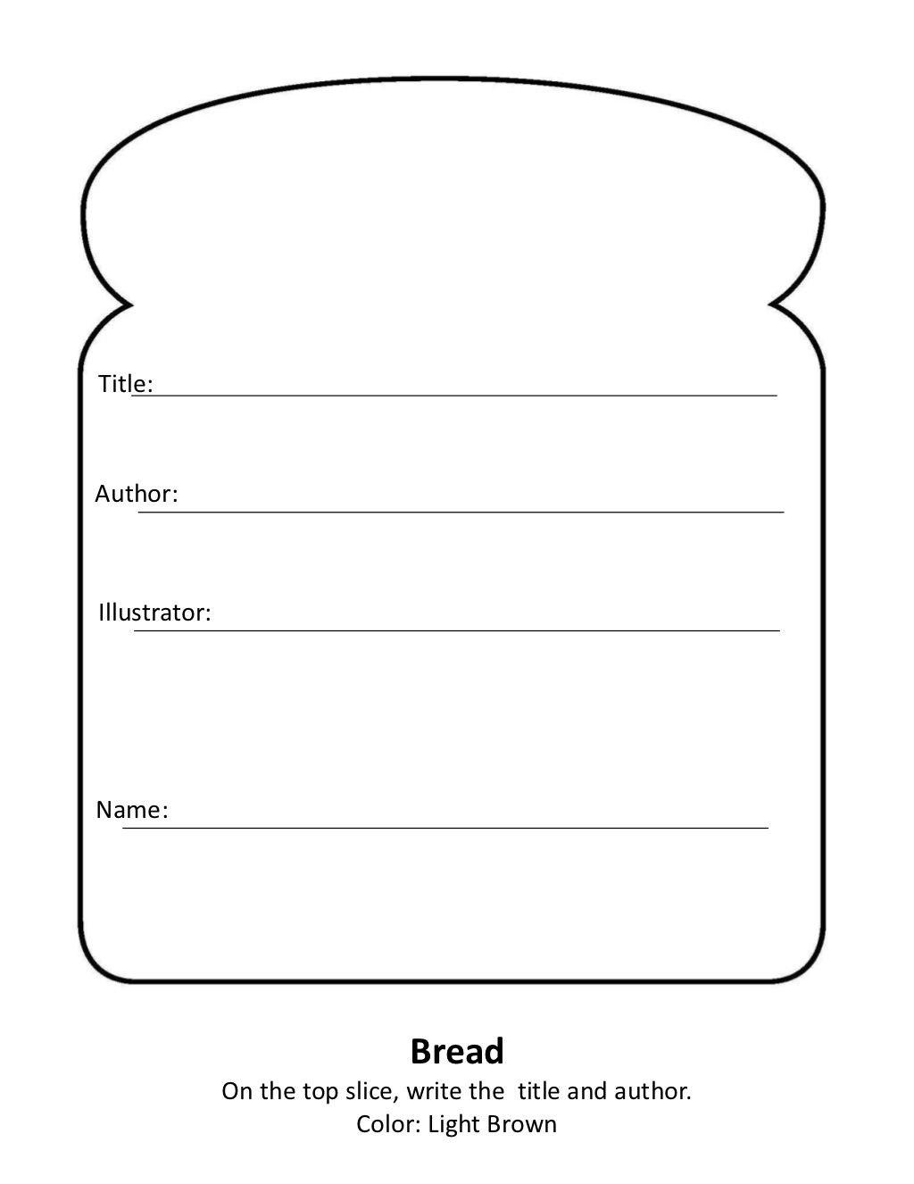 Sandwich Book Reportheather Turner Via Slideshare  Book With Regard To Sandwich Book Report Printable Template