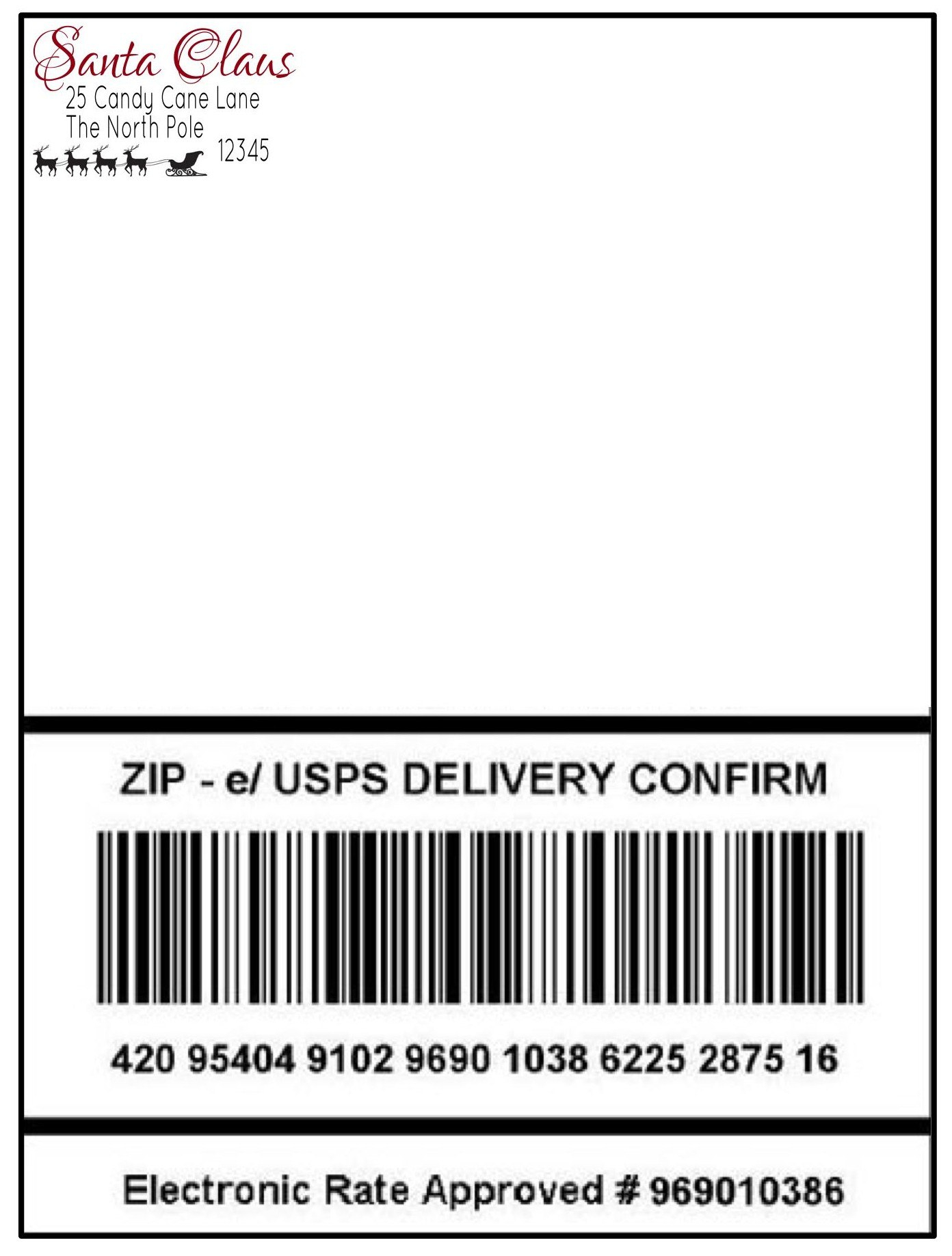 Santa's Special Delivery  Being Genevieve Regarding Package Mailing Label Template