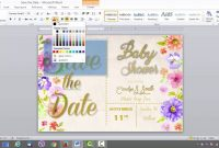 Save The Date Card Template In Ms Word  Youtube with regard to Save The Date Templates Word