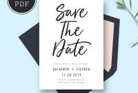 Save The Date Card Templates Wedding Save The Dates Printable in Save The Date Cards Templates