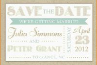 Save The Date Template Word  Authorization Letter Pdf with Save The Date Templates Word
