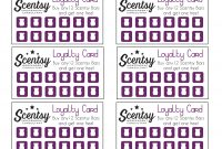 Scentsy Loyalty Card …  Scentsy In … with Scentsy Business Card Template