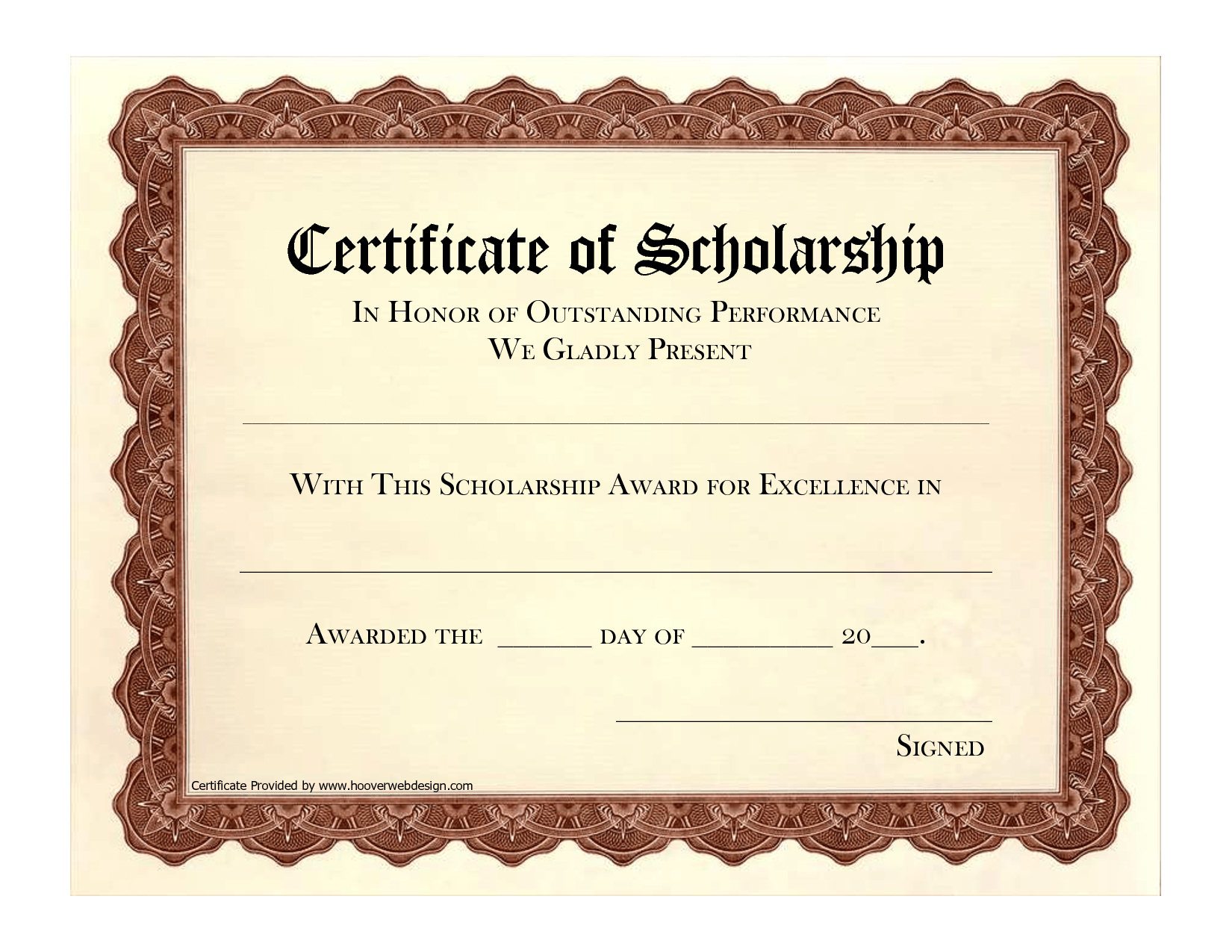 Scholarship Certificate Template For Sample Of Awards Ways To With Regard To Scholarship Certificate Template