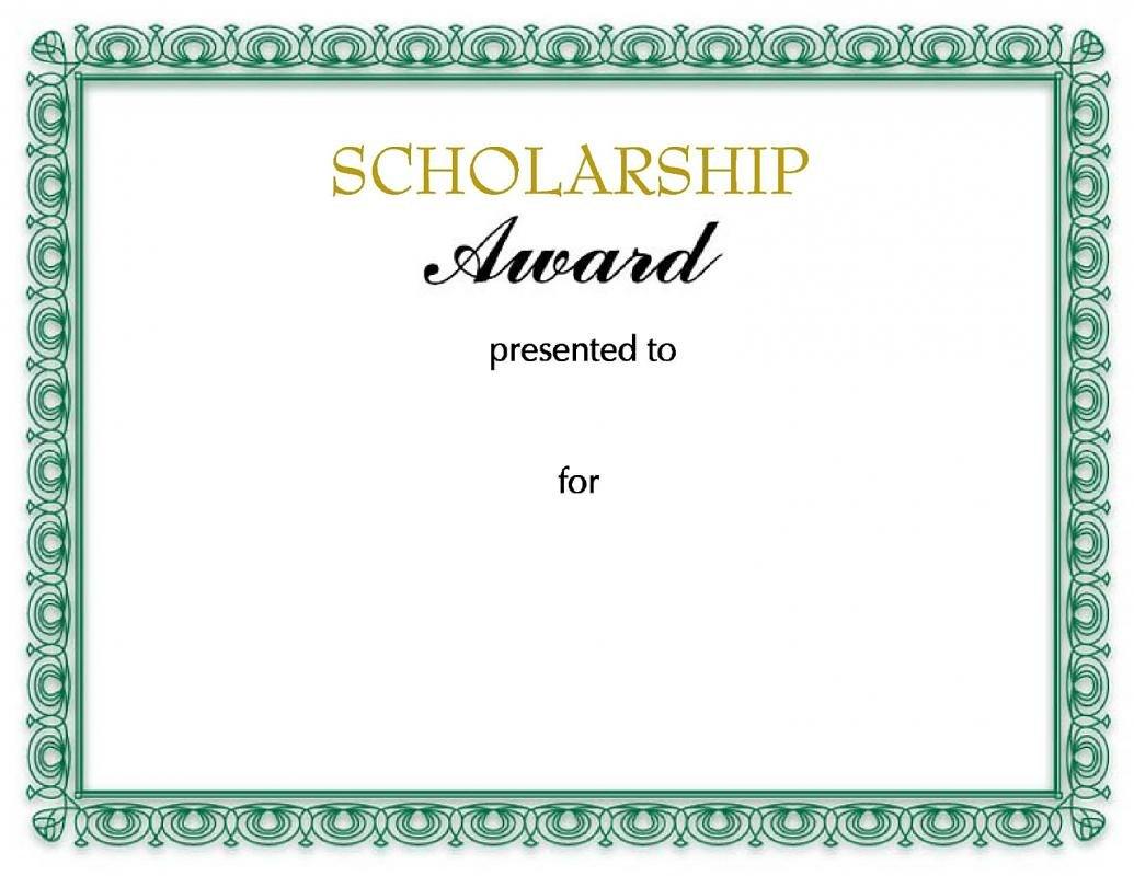 Scholarship Certificates Templates  Template Business Regarding Scholarship Certificate Template Word
