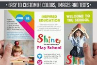 School – Free Psd Trifold Psd Brochure Template –Elegantflyer within Play School Brochure Templates