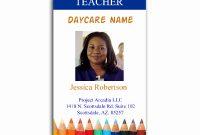 School Id Card Template Free Teacher Elegant Employee Badge within Teacher Id Card Template
