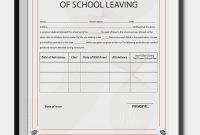 School Leaving Certificate Template  Certificate Templates  School in Baby Death Certificate Template