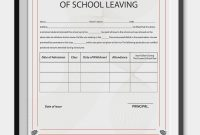 School Leaving Certificate Template  Certificate Templates  School inside Birth Certificate Template For Microsoft Word
