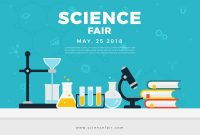 Science Fair Poster Banner  Download Free Vector Art Stock regarding Science Fair Banner Template