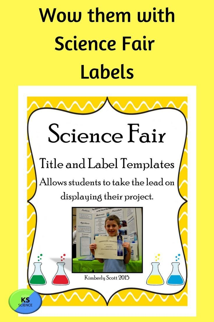 Science Fair Project Labels And Title Template Editable  Super Intended For Science Fair Labels Templates
