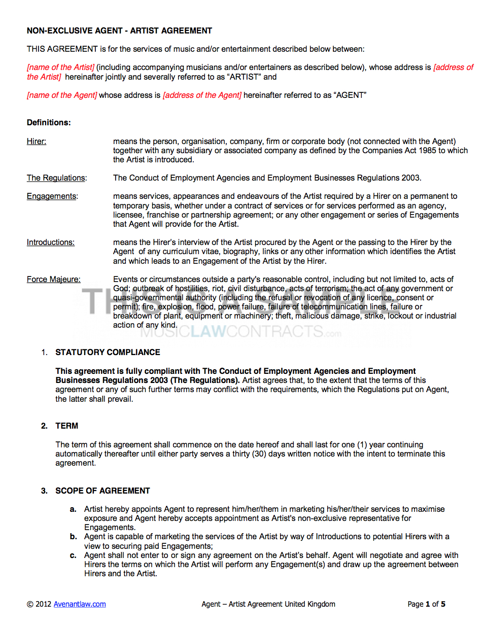 Screen Shot At Talent Management Contract Template Phenomenal With Talent Management Agreement Template