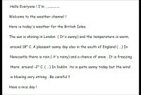 Script Weather Forecast  Youtube within Kids Weather Report Template