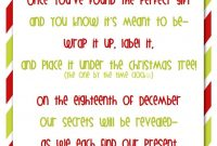 Secret Santa Is A Great Tradition To Play With Friends And Family throughout Secret Santa Label Template